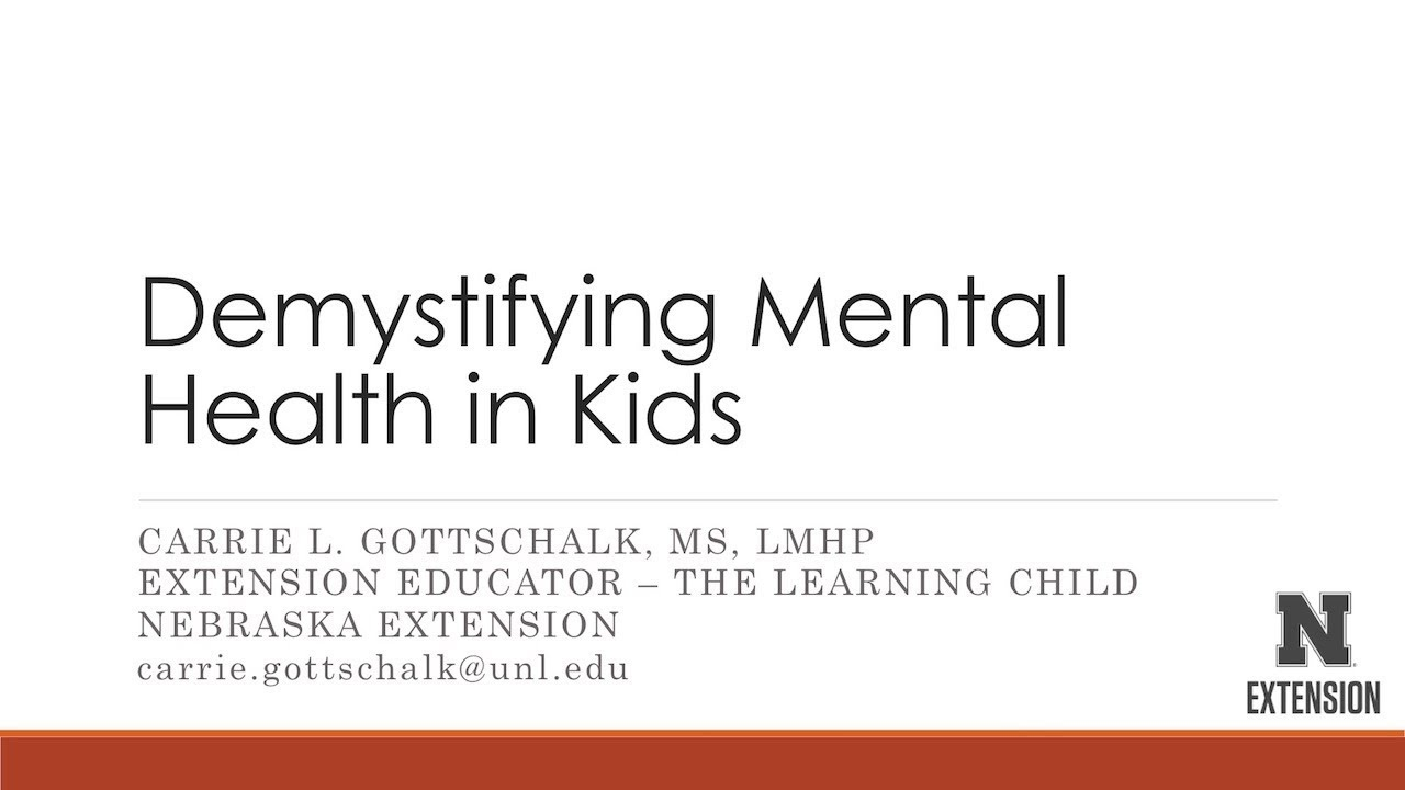 Demystifying Mental Health in Kids